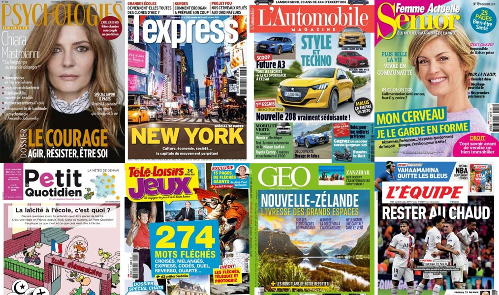 Les magazines du Groupe Prisma Media