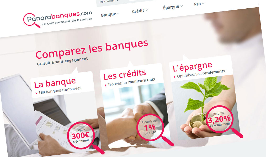 Panorabanques, le comparateur de banques.